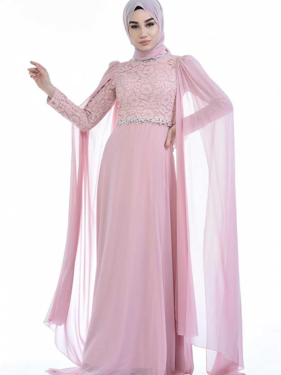 Sefamerve Tesettür Boncuklu Abiye Elbise Modelleri