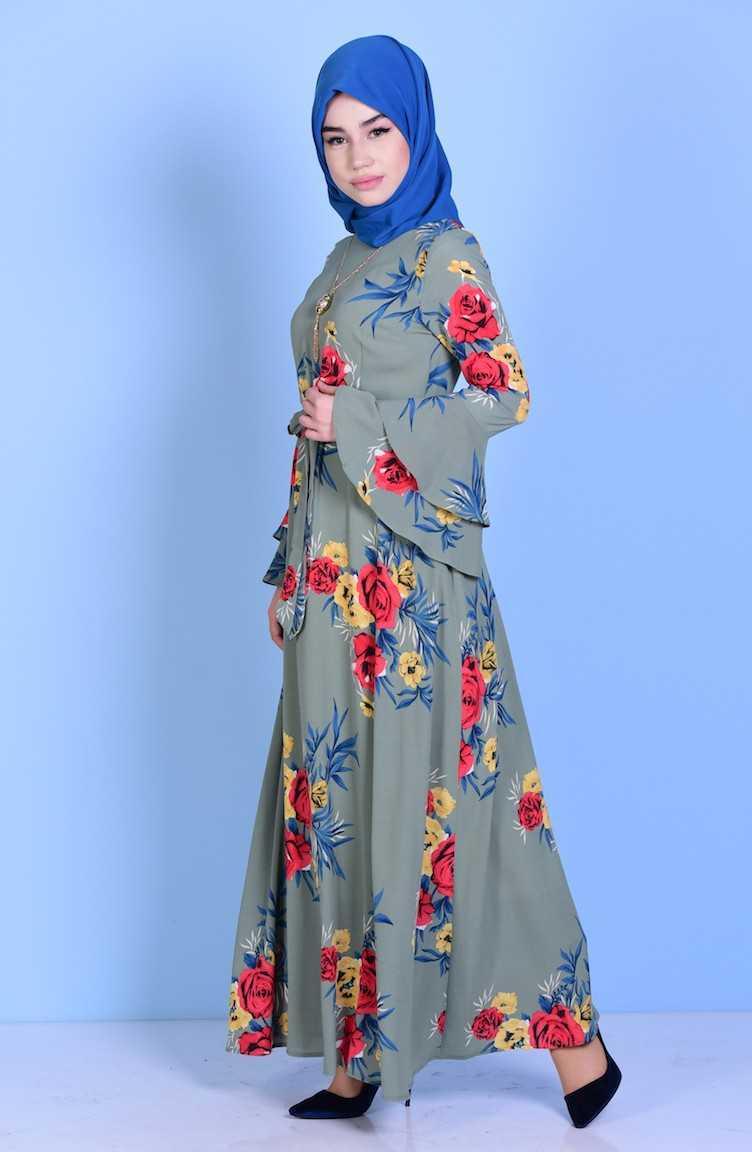 Sefamerve Tesettür Krep Elbise Modelleri