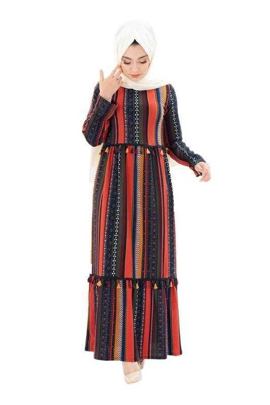 Zenane Büyük Beden Tesettür Elbise Modelleri
