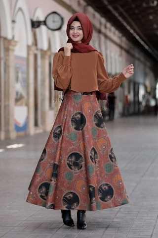 En Güzel Pınar Şems Tesettür Etek Modelleri
