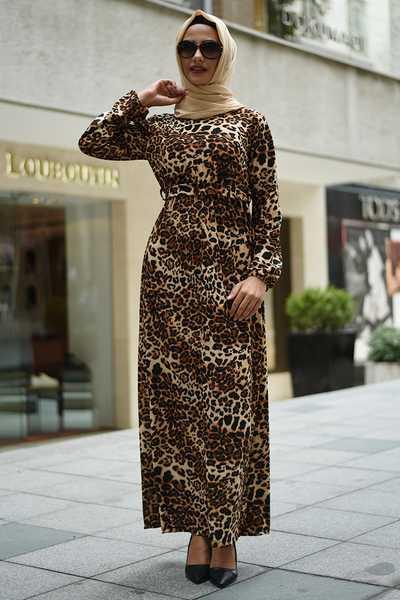 Modanoiva 2020 Tesettür Desenli Elbise Modelleri