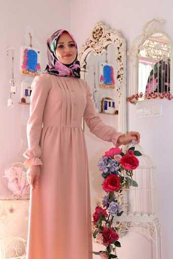 Morfistan Düğmeli Tesettür Elbise Modelleri