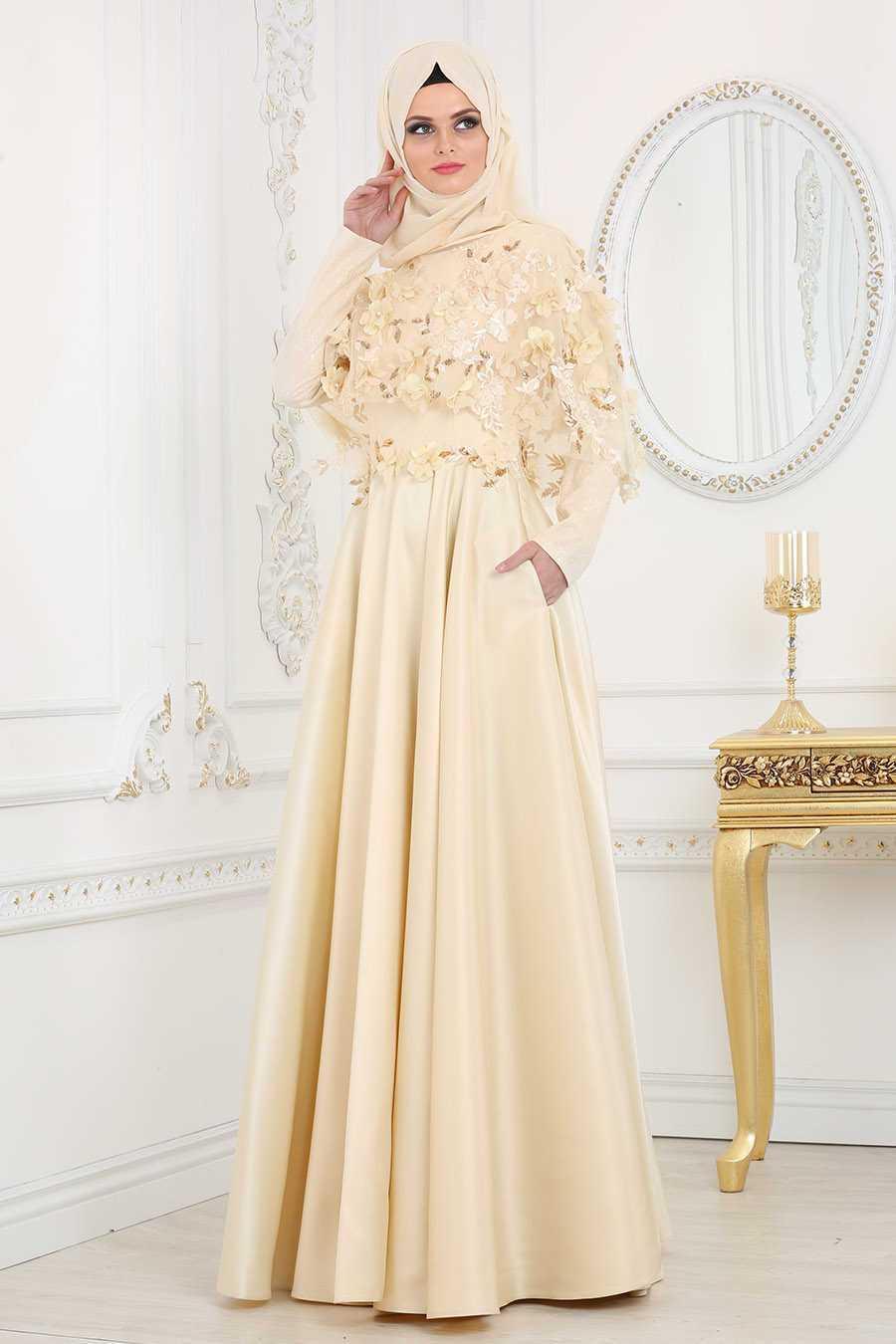 Neva Style Tesettür Çiçekli Abiye Elbise Modelleri
