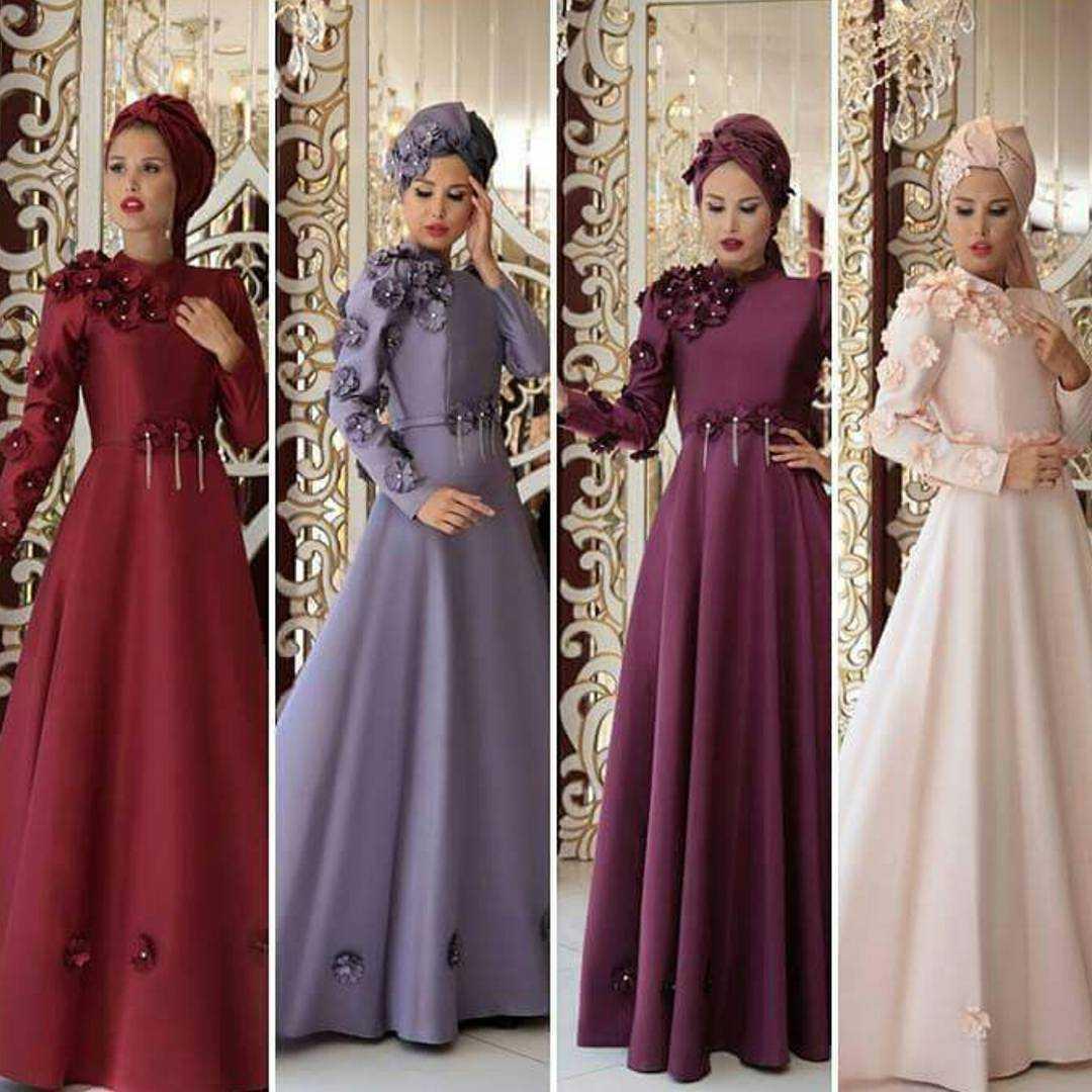 Nurtuba Tesettür Çiçekli Abiye Elbise Modelleri