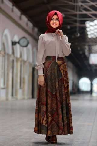 Pınar Şems Şık Tesettür Etek Modelleri