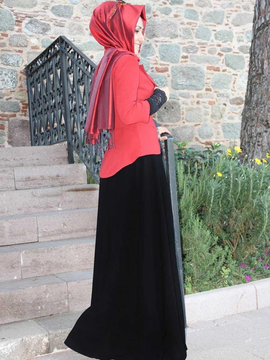 Pınar Şems Tesettür Siyah Etek Modelleri