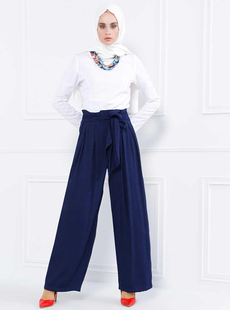Refka Bol Paça Tesettür Pantolon Modelleri