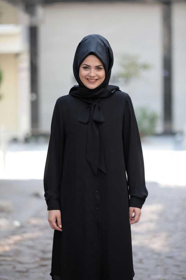 Saliha Moda Tesettür Fularlı Tunik Modelleri