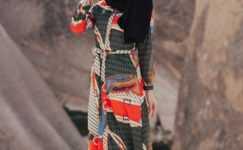 Geometrik Desenli Tesettür Elbise Modelleri
