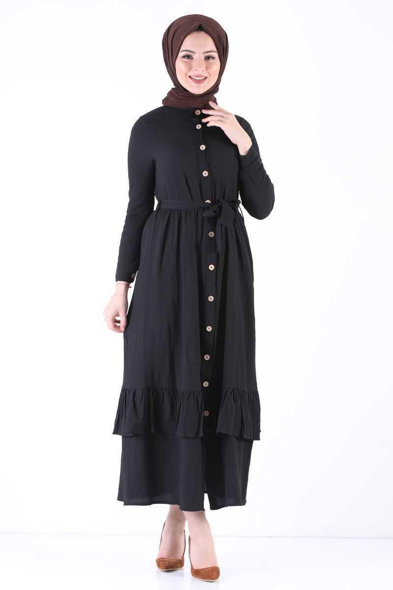 Tesettür Dünyası Düğmeli Elbise Modelleri