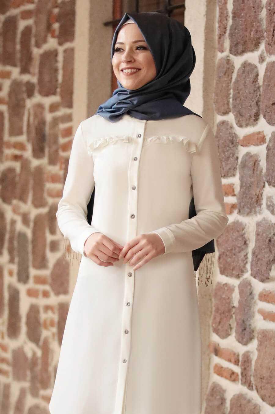Al Marah Tesettür Düğmeli Tunik Modelleri