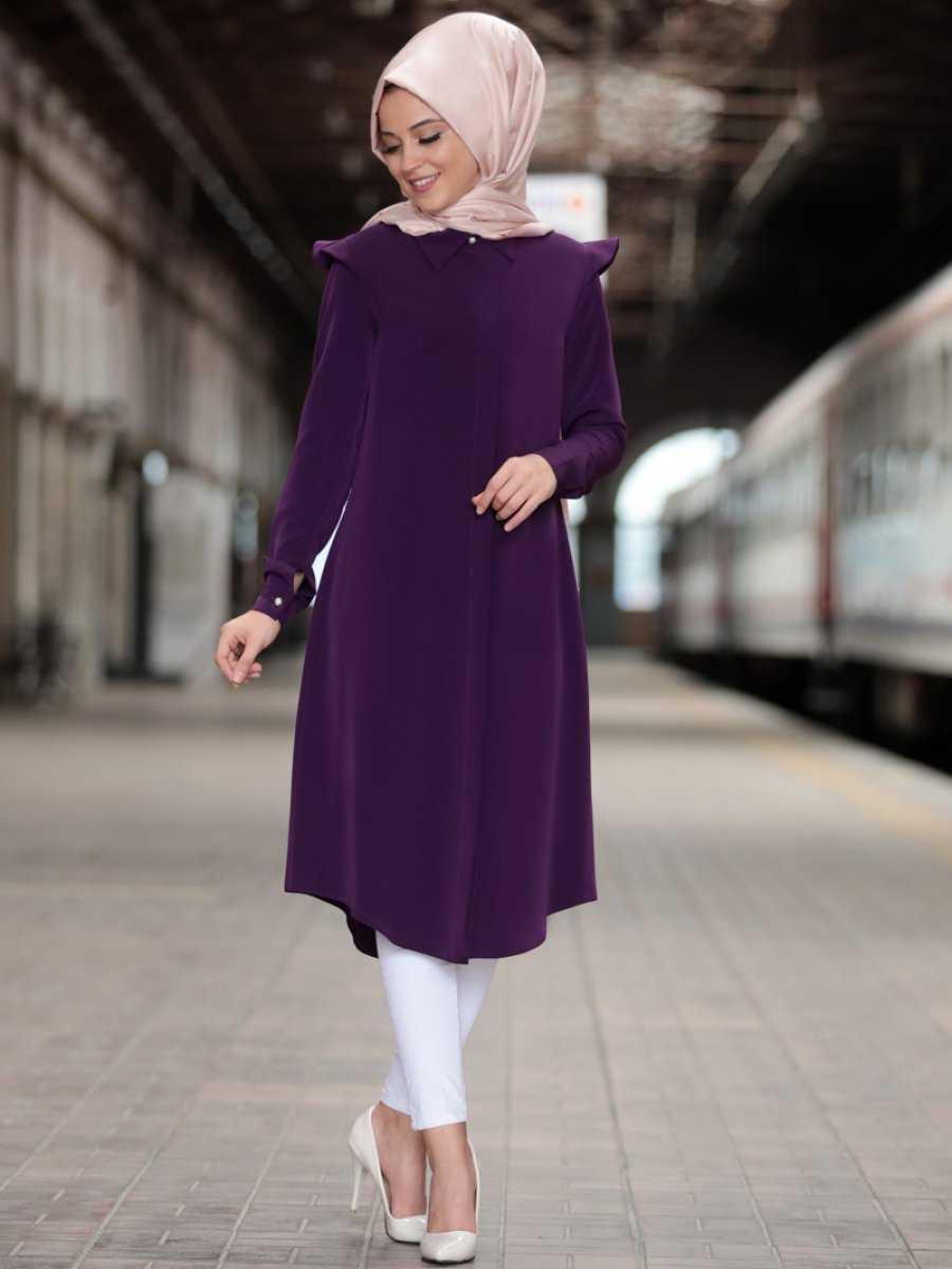 Al Marah Tesettür Mor Tunik Modelleri