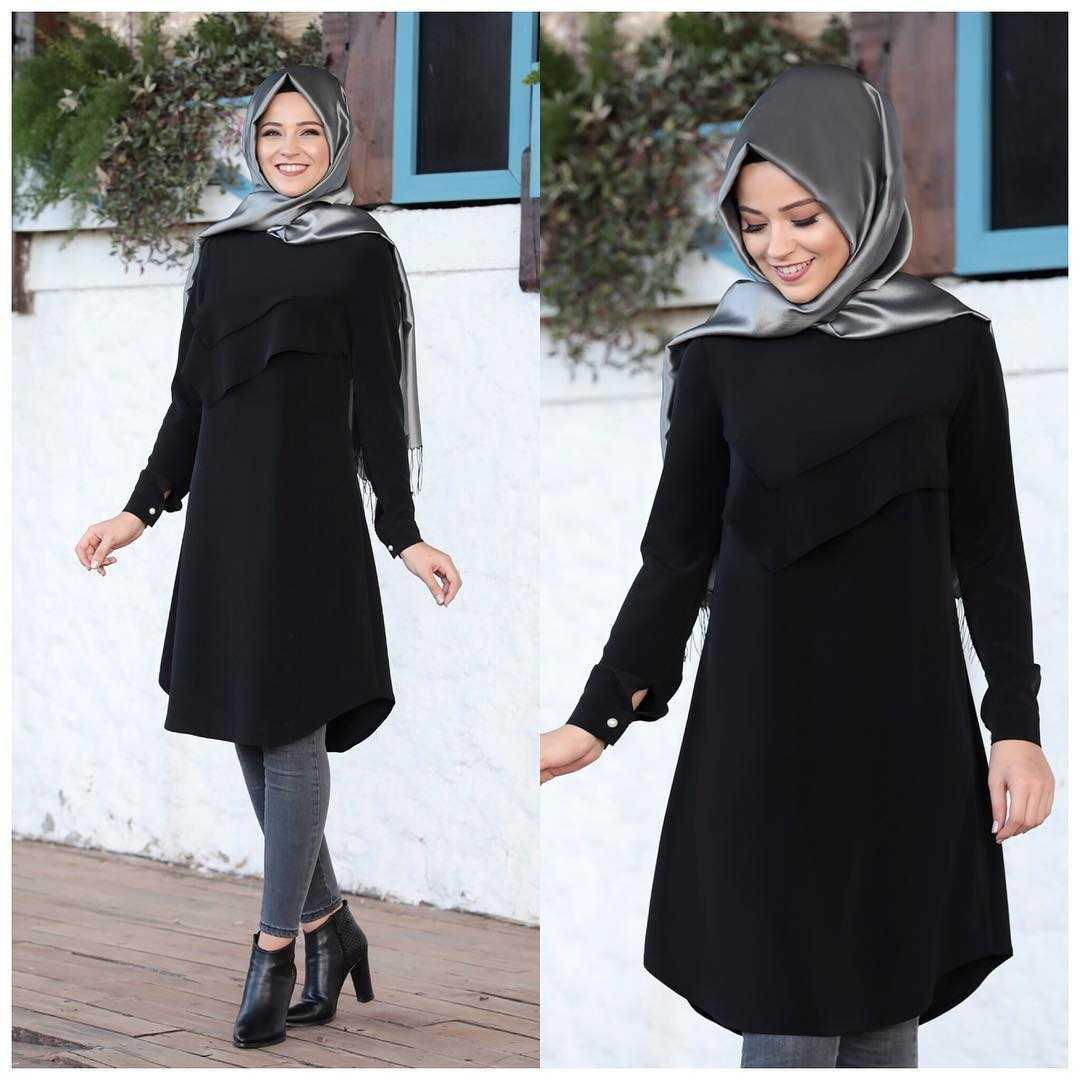 Al Marah Tesettür Siyah Tunik Modelleri