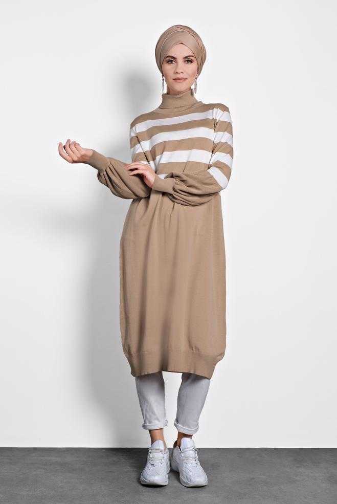 Alvina Tesettür Triko Tunik Modelleri