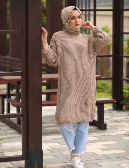 Ebrulim Tesettür Triko Tunik Modelleri