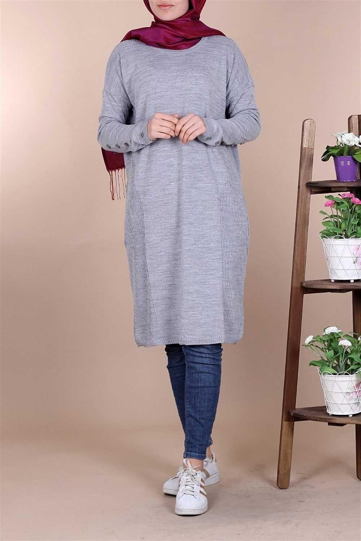 Kiraz Giyim Tesettür Triko Tunik Modelleri