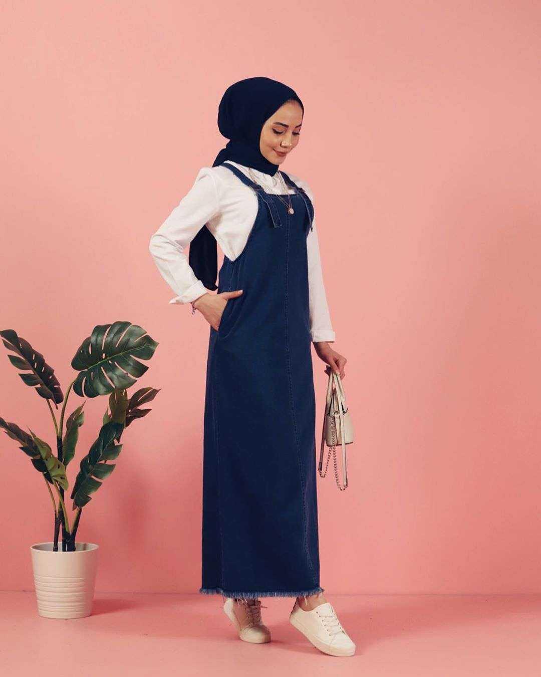 Moda Piyasa Tesettür Askılı Salopet Tulum Modelleri