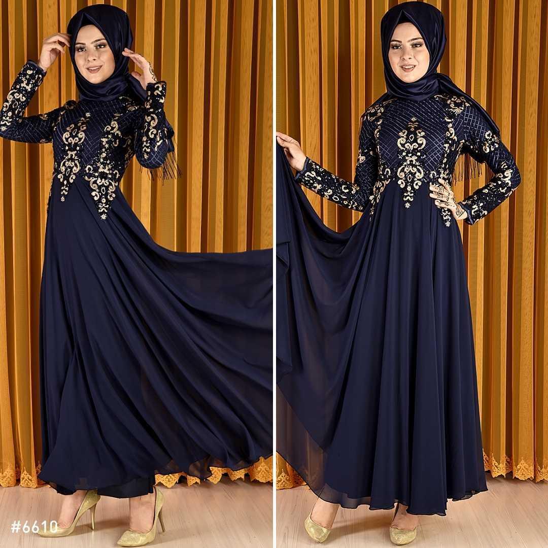 Modahira Pul Payetli Tesettür Abiye Elbise Modelleri