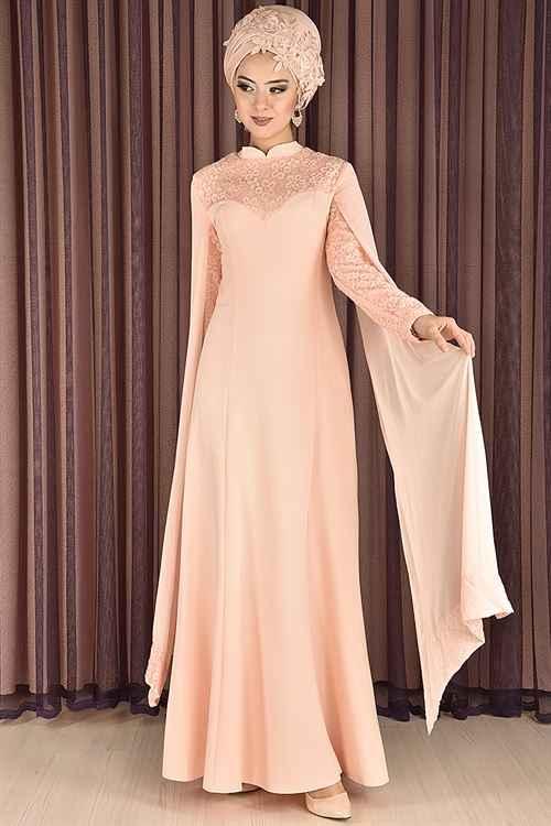Modahira Tesettür Simli Abiye Elbise Modelleri