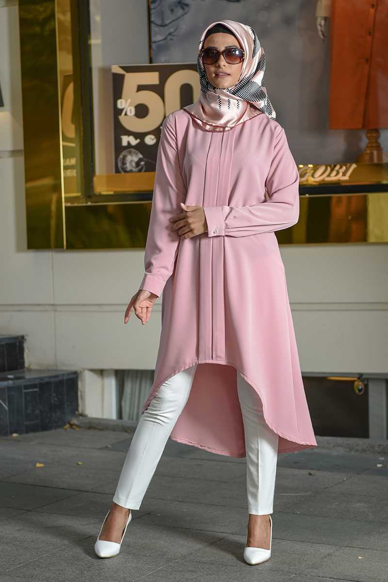 Modanoiva Tesettür Pembe Tunik Modelleri