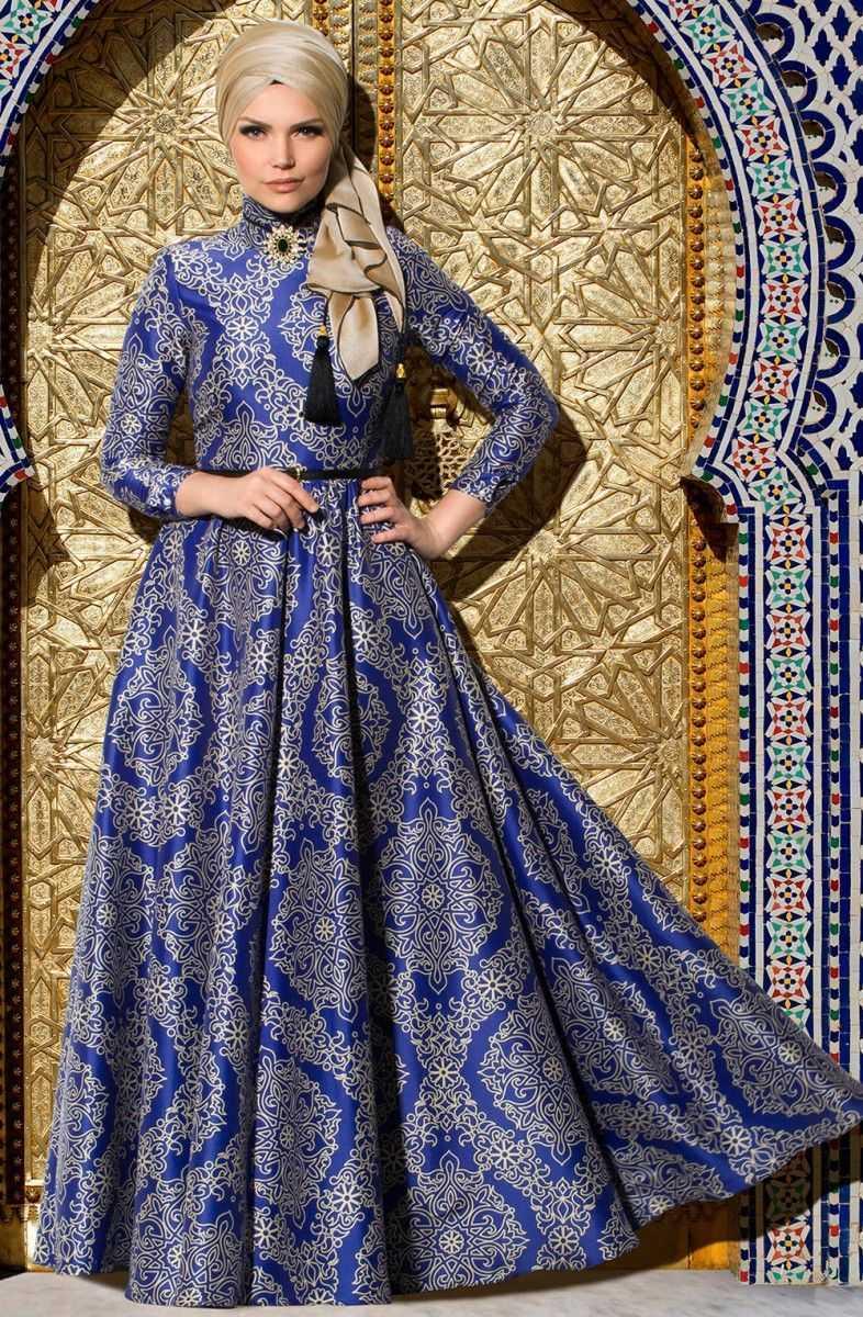 Muslima Wear Tesettür Desenli Abiye Modelleri