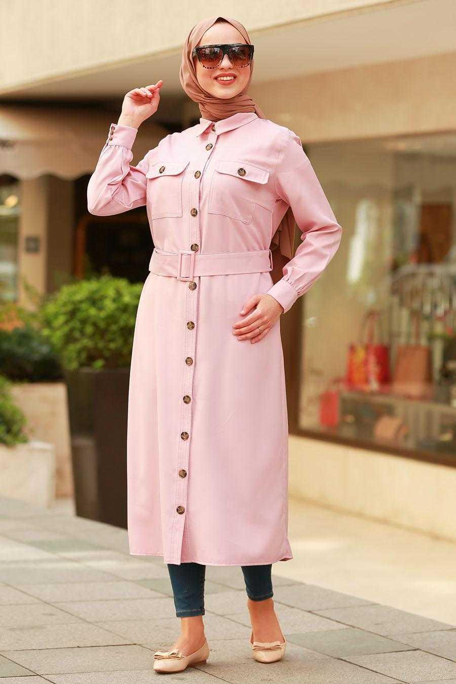 Nayla Collection Tesettür Pembe Tunik Modelleri