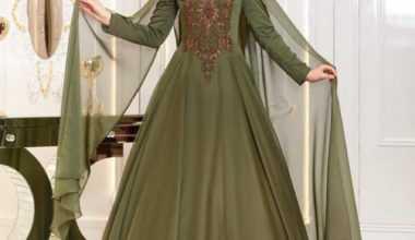 Şal Kombinli Tesettür Abiye Elbise Modelleri