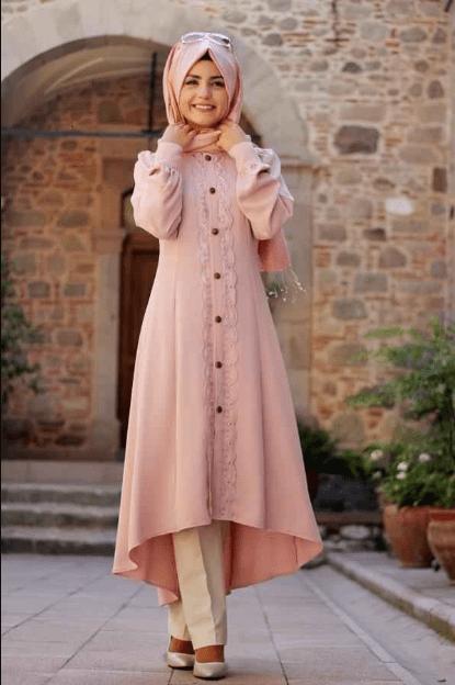 Pınar Şems Tesettür Pembe Tunik Modelleri