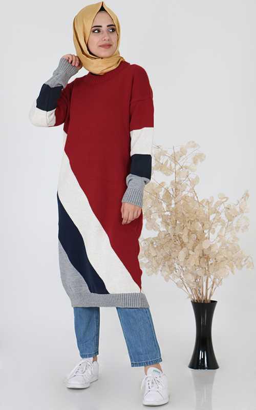 Sahranur Tesettür Triko Tunik Modelleri