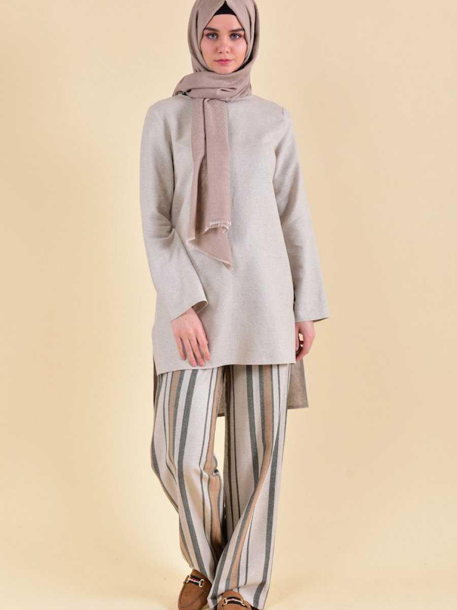 Sefamerve Tesettür Keten Kıyafet Modelleri