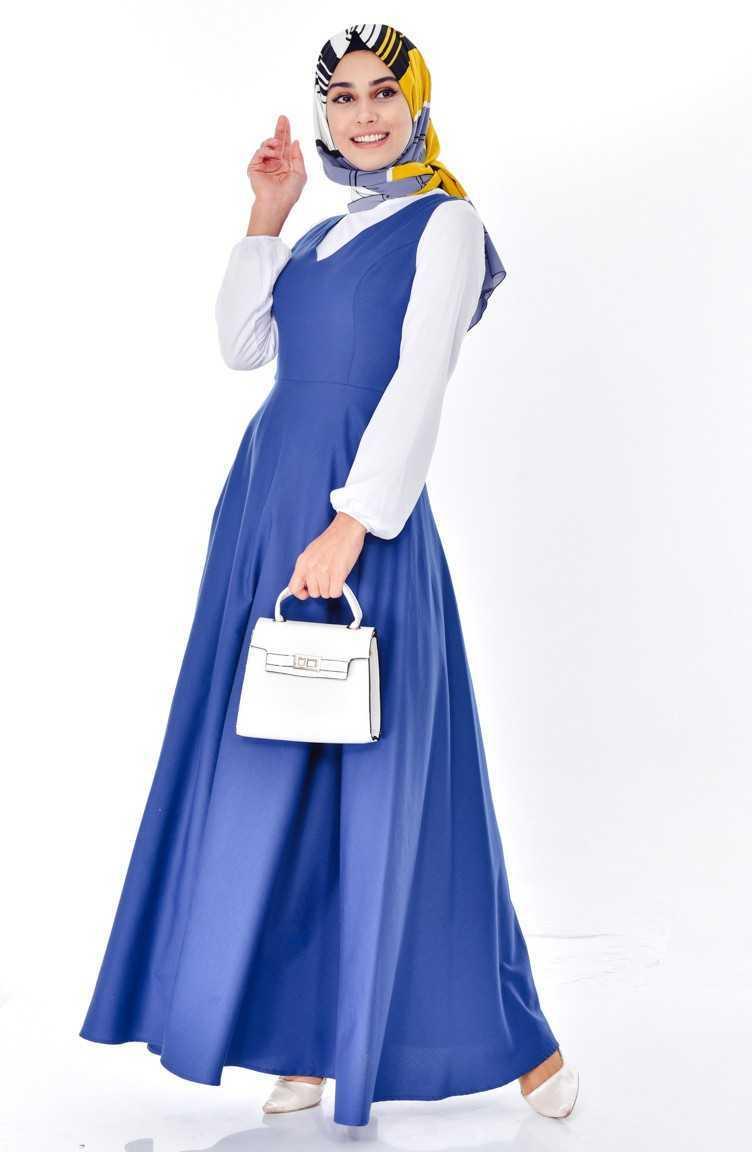 Sefamerve V Yaka Tesettür Jile Elbise Modelleri