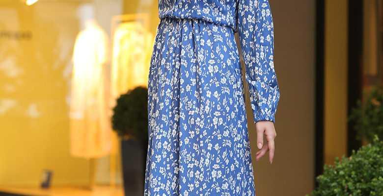 Tesettür Mavi Elbise Modelleri