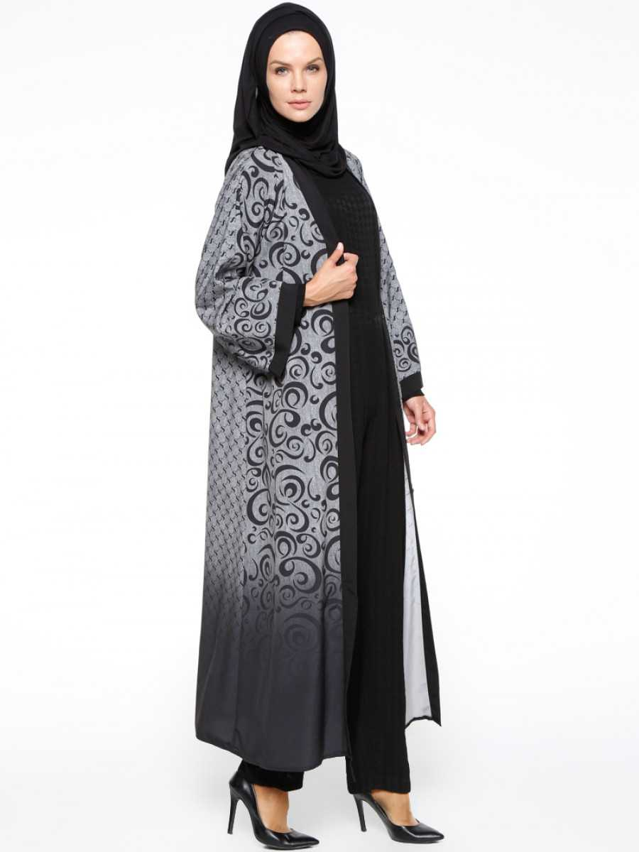 Şahin Ferace Desenli Tesettür Abaya Modelleri