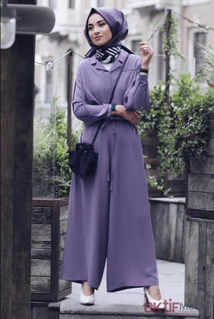 Aktif Moda Günlük Tesettür Tulum Modelleri