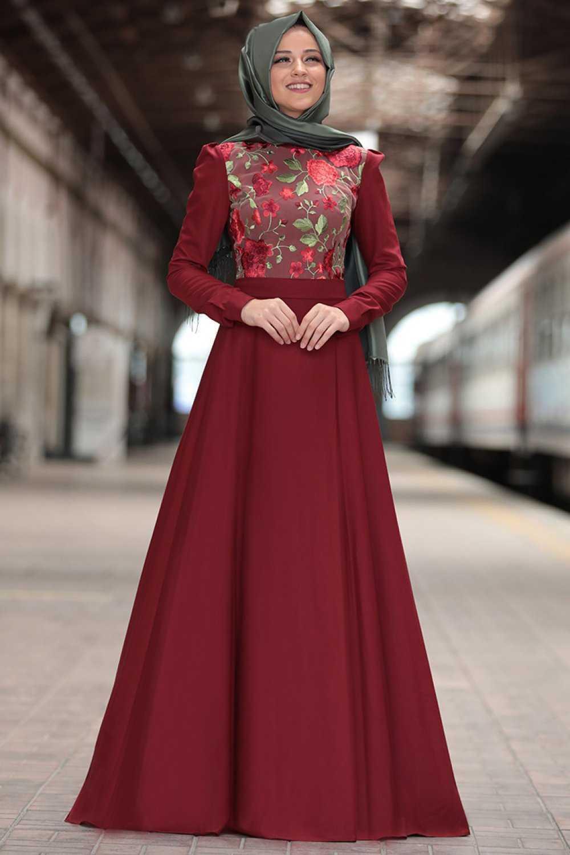 Al Marah Tesettür Çiçekli Zara Elbise Modelleri