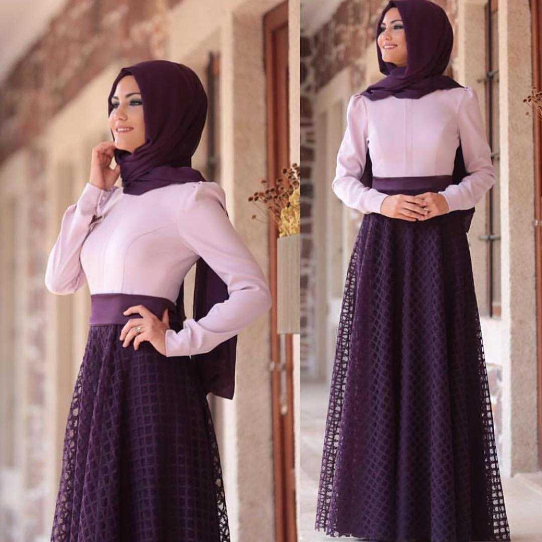 Al Marah Tesettür Çift Renk Mira Elbise Modelleri