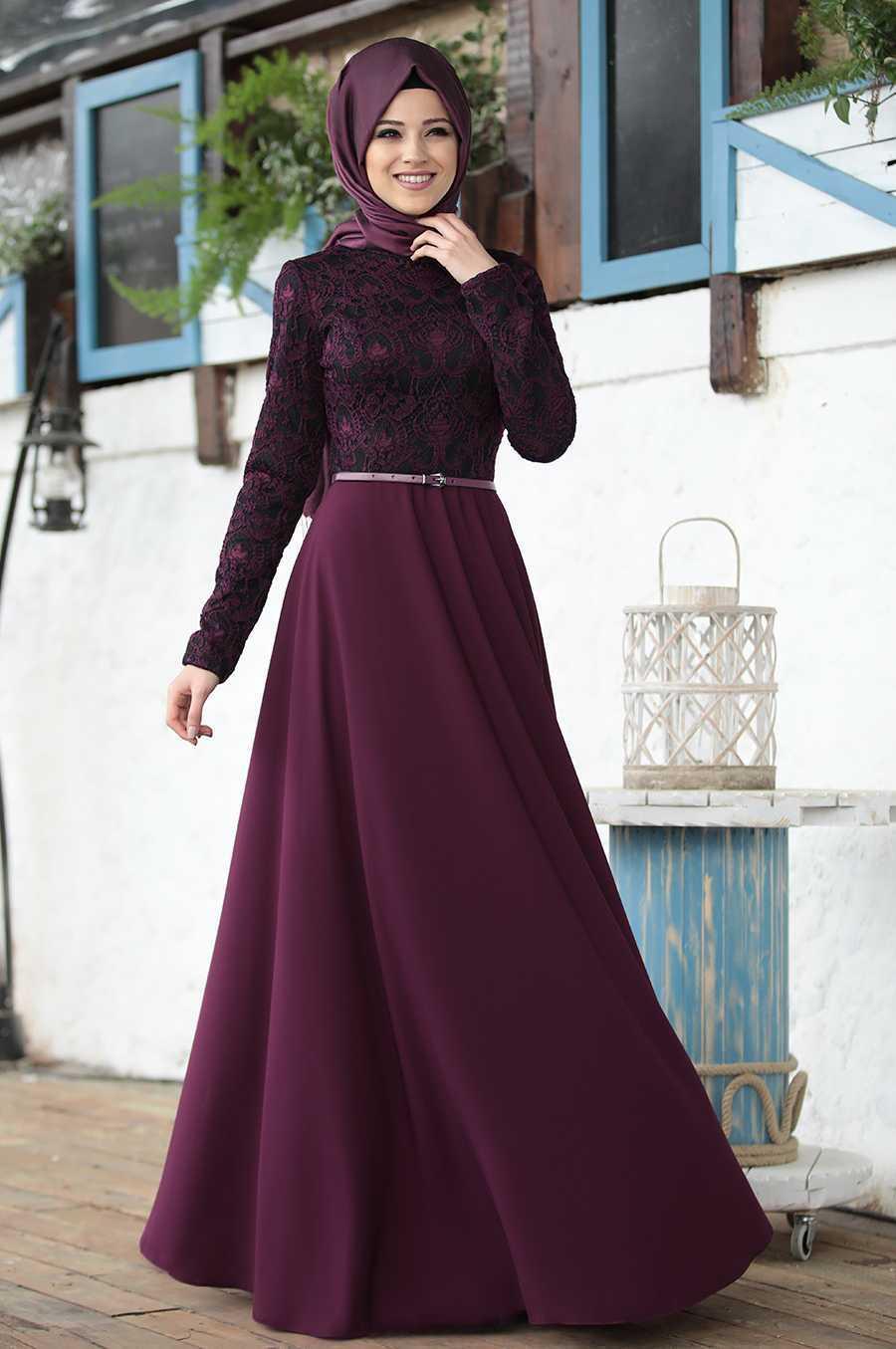 Al Marah Tesettür İmge Fuşya Elbise Modelleri