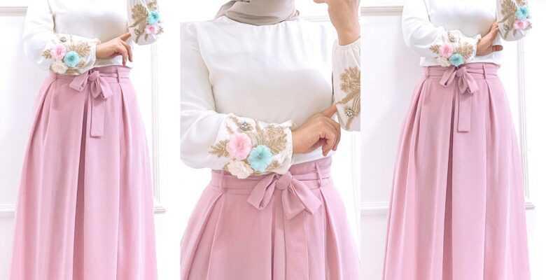 Çiçek Desenli Tesettür Bluz Tasarımları