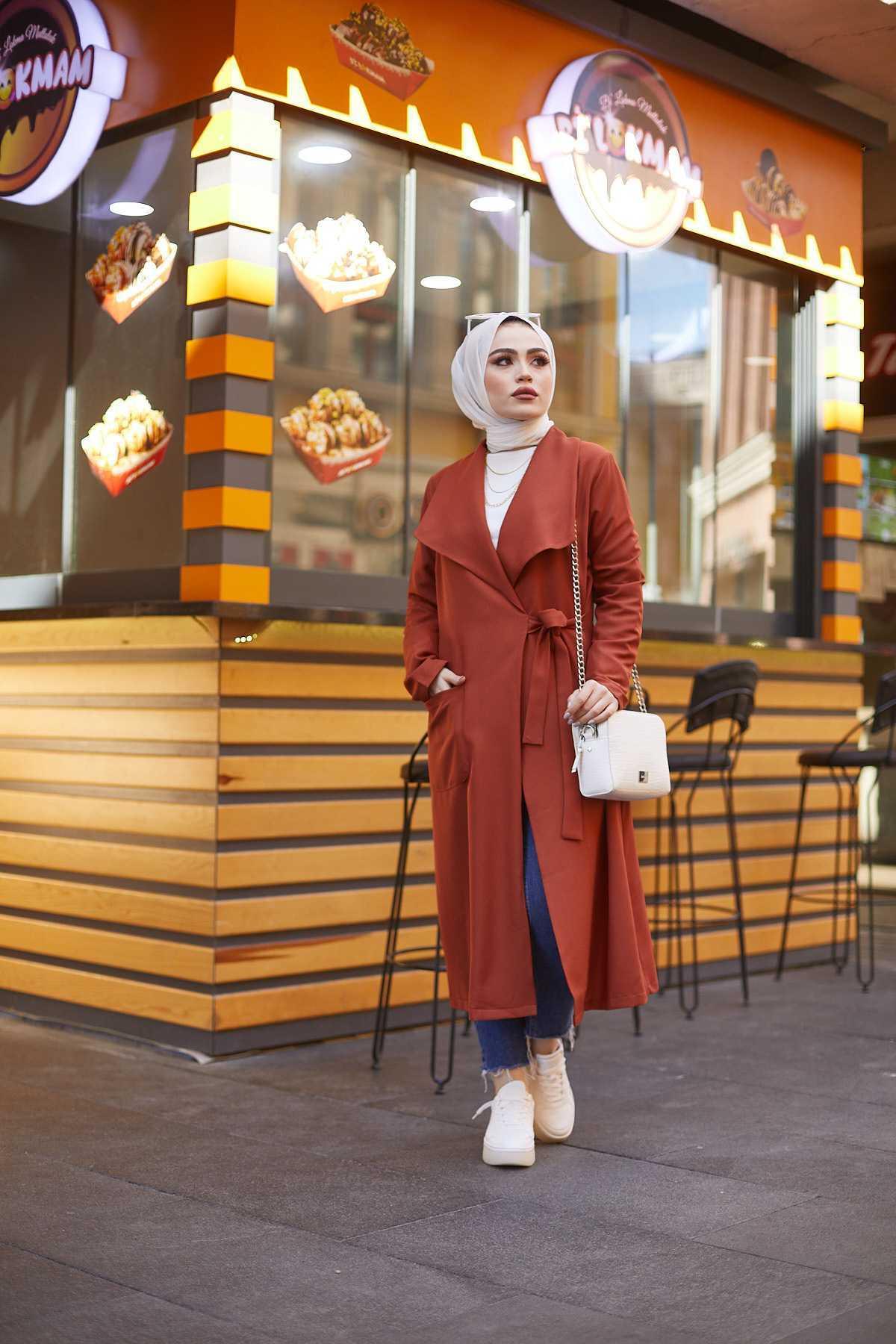Eliza Moda Tesettür Kiremit Kap Modası