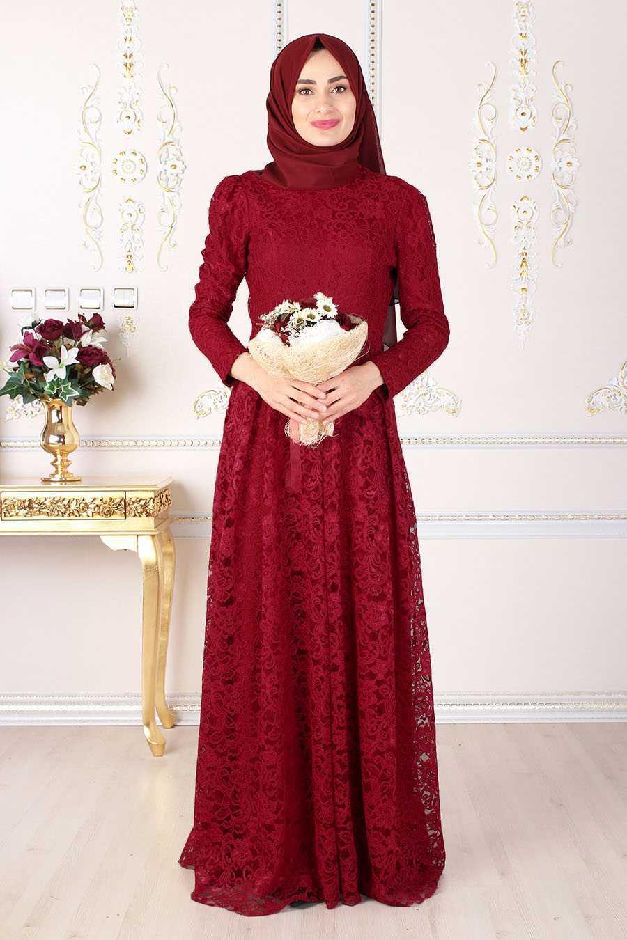 Feiza Collection Dantelli Tesettür Abiye Elbise Modelleri