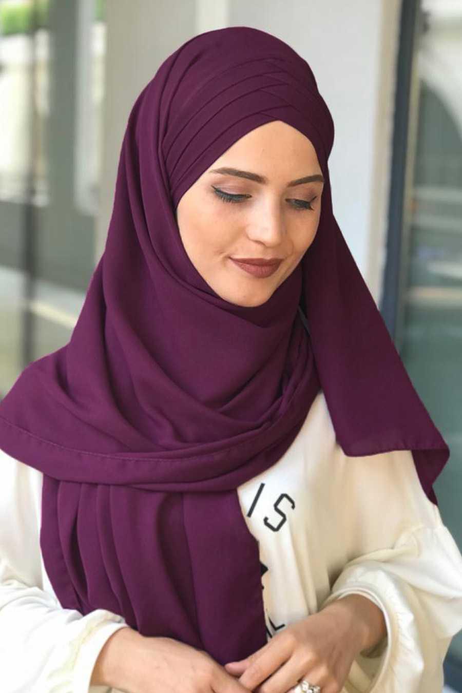 Feiza Collection Drapeli Mor Şal Modelleri