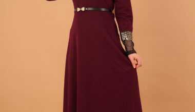 Tesettür Varak Abiye Elbise Modelleri