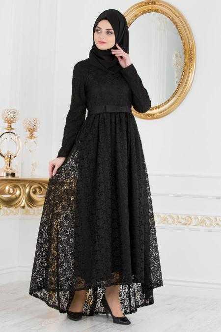 Nayla Collection Dantelli Tesettür Abiye Elbise Modelleri