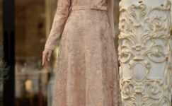 Dantelli Tesettür Abiye Elbise Modelleri