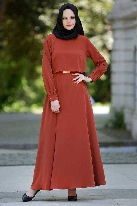 Neva Style Tesettür Kiremit Elbise Modası