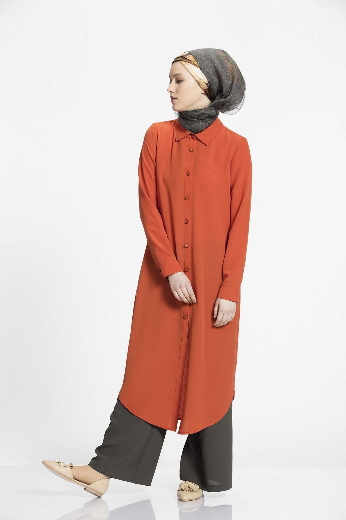 Nihan Tesettür Kiremit Tunik Modası