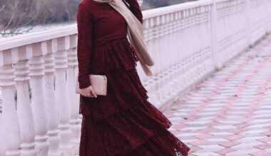 Tesettür Katlı Elbise Modelleri