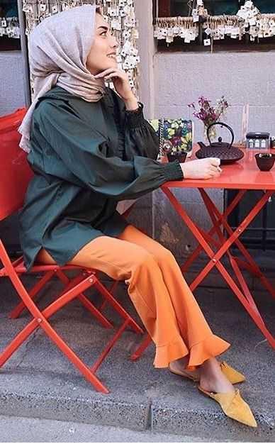 Şık ve Modern Günlük Tesettür Pantolon Modelleri