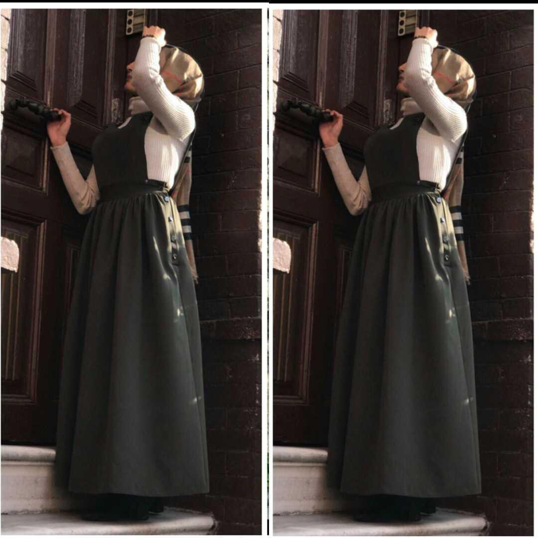 Elifcebutik Tesettür Askılı Jile Elbise Modelleri