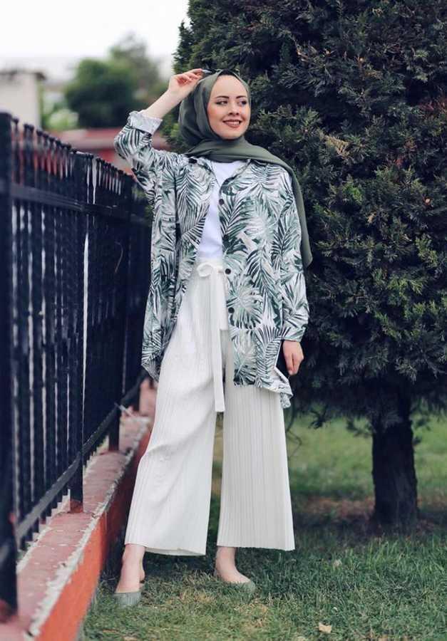 Eliza Moda Tesettür Çiçekli Gömlek Modelleri